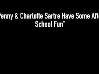 Hot Lesbian School Girls Penny Pax & Charlotte Sartre Eat Pussy & Orgasm!
