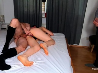 Hubby Cuckolding While Business Lover In Dress Socks Smashes Me, YouPeg