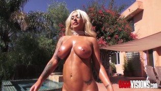 Busty blonde gets her big ass fucked by Mick Blue