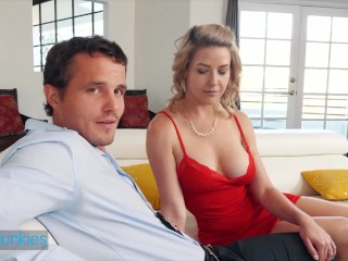 Reality Junkies - Busty MILF Kit Mercer Sucks The Juice Out Of That Cock