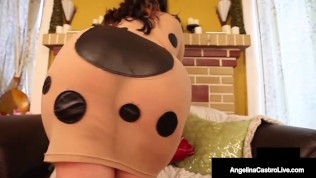 Massive Titty Duo Angelina Castro & Samantha 38G Sucks On A Big Black Cock!