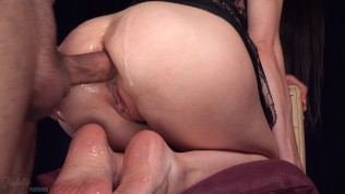 Very Wet Anal Fuck and Cum on her Soles