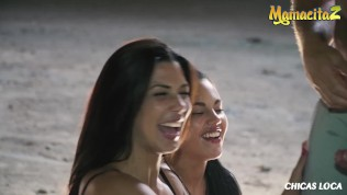 Chicas Loca – Apolonia Lapiedra & Alexa Tomas Hot Ass Chicks Risky Public Threeway Fuck With Horny Lover