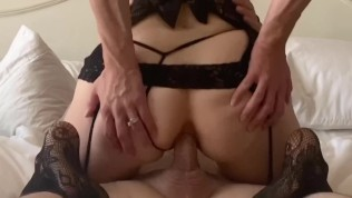 Wife gets anal creampie from lover