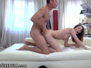 She Accumulates Anally Drilled Deep During Her Casting
