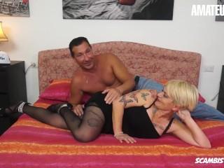 Scambisti Maturi - Fat Ass Italian Mature Slut Rough Anal Sex On First Casting