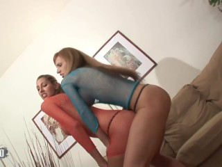 Two skinny pornstar ass fucked by two BBC