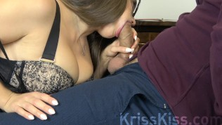 Sex in the office! Blonde in stockings gets her pussy fucked after a working day!