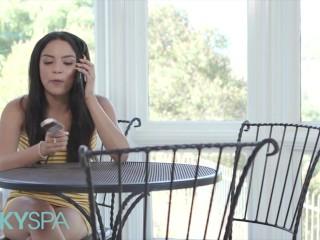 KinkySpa - Sexy Latina Maya Bijou Deep Fucked On Massage Table