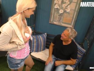 Hausfrau Ficken - Mia Bitch Naughty German Slut Gets Her Pussy Fucked By Her Horny Grandpa