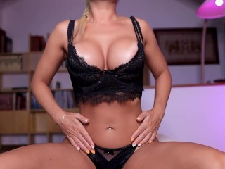 Oiled up and FUCKED - Magic pussy made me CUM INSIDE her!