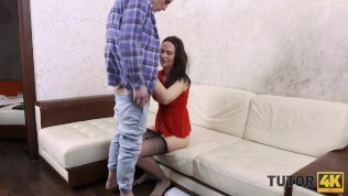 TUTOR4K. Man left girlfriend alone because there was instructor to be carnal