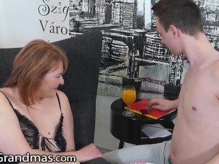 Hot Granny Gets Drilled In The Morning