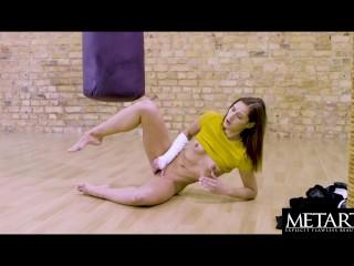 Watch as busty beauty Mila Azul masturbates to an intense orgasm