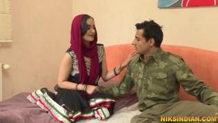 Hot Indian Bhabhi talks dirty in Hindi, sucks cock and gets fucked hard