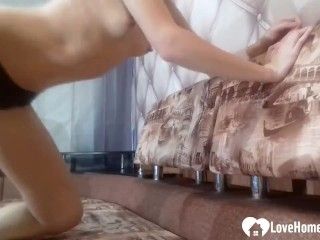 After she shows off her nice tits and her ass, this princess will masturbate sensationally.