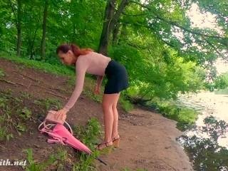 Sexy Jeny Smith got naked in Public City Park