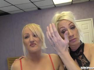 British Blondes Jade and Bethany Enjoy A Hard Gangbang Fuck Party