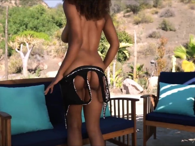 Watch Exotic Babe Jenna Foxx Striptease and Plays Herself