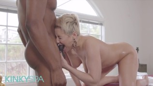 KinkySpa – Curvy Milf Ryan Keely Cheats On Her Husband With a Muscular Masseur With a Huge Cock