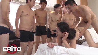 Erito – Horny Asian Milf Gets Her Pussy Fucked By A Lot Of Cocks