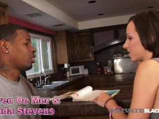 PrivateBlack - Jada Stevens & Step Mom Syren De Mer Share A Big Black Cock
