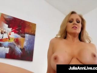 Colossal Titty Step Sexy milf Julia Ann Bounces on Her Step Son & Milks His Taboo Dick!