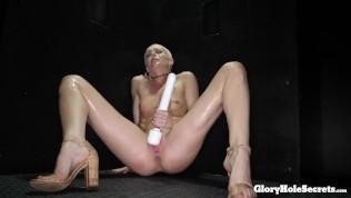 Gloryhole Girl Eats Strangers Jizz