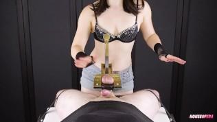 Femdom Edging Handjob – Balls Stretching and Squeezing Torture | Era