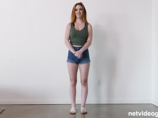 Drop Dead Gorgeous Redhead With Perfect Natural Tits Begs To Be Filled Up With Cum