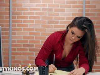 Reality Kings - Hot Babe Kimber Woods Working While Hot Chick Tiffany Watson Squirting On Her Face