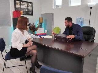 Naughty America - Lilian Stone helps her boss deal with his stress by letting him pound her