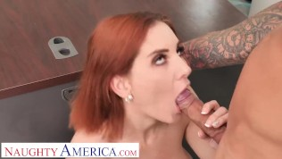 Naughty America – Lilian Stone helps her boss deal with his stress by letting him pound her