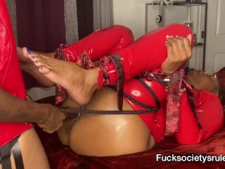 Strap orgasm denial BDSM bondage