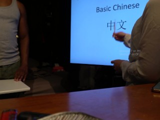 Chinese teacher has sex with student during private class (speaking chinese)