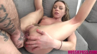 French Milf Angel Emily takes it up the ass