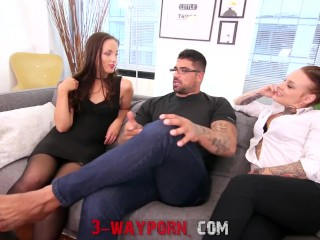 3-Way Porn - Family Threesome w/ Step-Mom & Step-Daughter