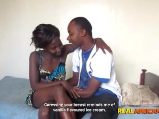 Ebony chick with huge butt, pounded by Black Boyfriend