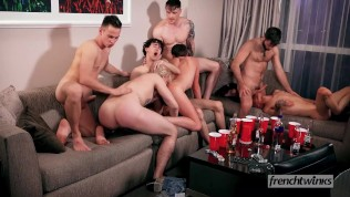 8 Amazing French Twinks Pornboys Quick Fuck With US Stars In Group Sex with facials Like You Have Never Seen Before!