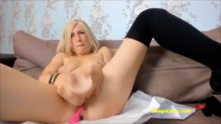 BongaCams tense girl made show with pussy fuck and squirt
