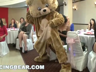 DANCINGBEAR - Gang Of Horny Hoes Sucking Male Stripper Dick In Miami