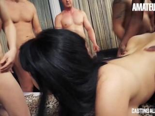 CastingAllaItaliana - Hot Newbie Italian Babes Hardcore Group Sex With Horny Guys - AMATEUREURO