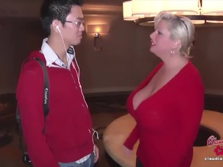 Big Fake Tits Claudia Marie Cumshot 3 Times By Chinese Teen