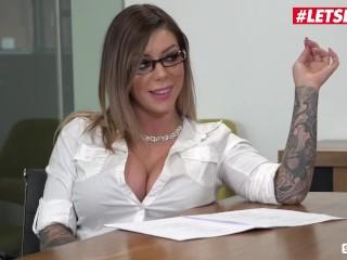 ScamAngels - Valentina Nappi Italian Secretary Fucks Boss With Her Colleagues - LETSDOEIT