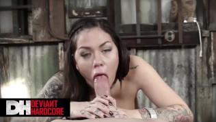 Deviant Hardcore – Tattoed Sexy Babe Karmen Karma Love To Make Blowjobs