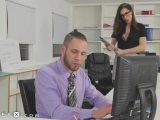 GenderX - TS Boss Seduces Employee To Fuck In Office