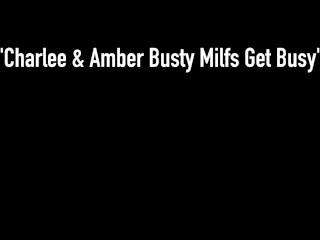 Muff Munching Milfs Amber Lynn Bach & Charlee Chase Suck Tits & Tongue Fuck