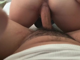 Don't cry over spilled cum.Accidental pull out!Tried to impregnate!Blowjob n reverse cowgirl POV.4k