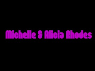Blondes Michelle Thorne And Alicia Rhodes Rip Tights Lick Pussy And Fuck Big Black Cock Dildo