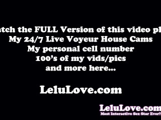 Dildo fun in only sneakers, Big Black Cock JOI, Making a Cum Cube & other behind the scenes fun and action... - Lelu Love